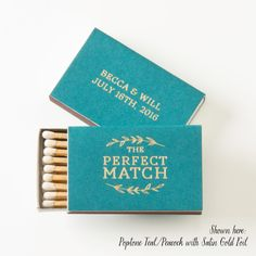 THE PERFECT MATCH Leaf Branch Matchboxes, Min of 25 - Wedding Favors, Wedding Matches, Wedding Decor, Personalized Matches, Custom Match Box by PicturePerfectPapier on Etsy https://www.etsy.com/listing/261457102/the-perfect-match-leaf-branch-matchboxes