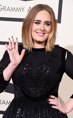 Adele arrives at the 58th Annual GRAMMY Awards on Feb. 15 in Los Angeles