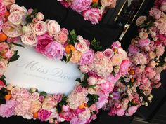 Flower Bottle Display by Donaldo Radovich Dior Flowers, Flower Bottle, Flower Installation, Bottle Display, Creative Words, Floral Design, Floral Wreath, Bouquet, Bloom