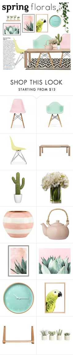 """""""Spring florals"""" by punnky ❤ liked on Polyvore featuring interior, interiors, interior design, home, home decor, interior decorating, Ciel, Anja, CALLIGARIS and Kate Spade"""