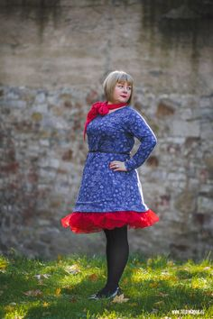 theblogbook | sewing | rockabilly dress with red tulle skirt, lillestoff, milchmonster