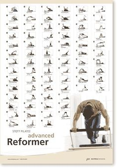 Amazon.com : STOTT PILATES Wall Chart - Advanced Reformer : Fitness Charts And Planners : Sports & Outdoors