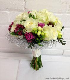 Wedding Flowers Liverpool, Merseyside, Bridal Florist, Booker Flowers and Gifts, Booker Weddings White Wedding Flowers, Rose Wedding, White Flowers, Hand Tied Bouquet, Rose Bouquet, Bride Bouquets, Bridesmaid Bouquets, Wedding Fair, Spray Roses