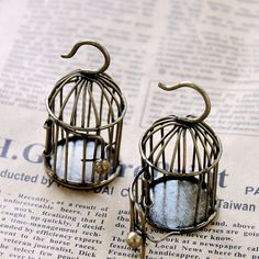 1 pcs Antique Bronze  Lovely Handmade Filigree by clothcampDIY, $3.20