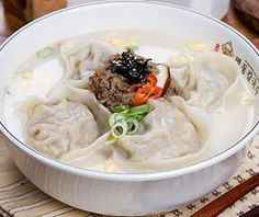 Man-doo-guk. Dumpling Soup. I do make this, but it's not a favorite - and I sometimes overcook everything. Oops.
