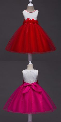 Only $35.9, Cheap Flower Girl Dresses Sparkly Red And White Flower Girl Dress With Lace Florals #QX-715 at #GemGrace. View more special Flower Girl Dresses,Cheap Flower Girl Dresses now? GemGrace is a solution for those who want to buy delicate gowns with affordable prices, a solution for those who have unique ideas about their gowns. 2018 new arrivals, click to shop now!