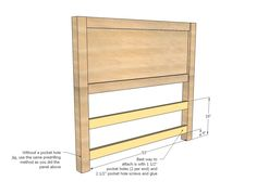 DIY Projects Farmhouse Storage Bed with Storage Drawers Woodworking Plans by Ana White Bed Frame With Drawers, Bed Frame With Storage, Diy Bed Frame, Bed Frames, Diy Bedframe With Storage, Bed Storage, Storage Drawers, Storage Area, Ana White