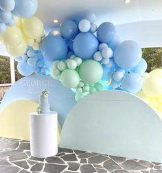 Blue Party Decorations, Birthday Balloon Decorations, Birthday Balloons, Wedding Decorations, Balloon Backdrop, Balloon Garland, Balloon Columns, Balloons Galore, Diy Wedding Backdrop