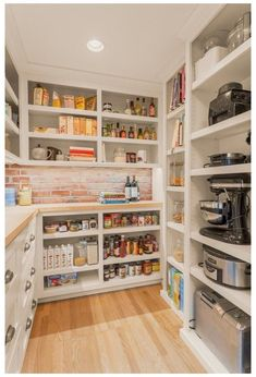 Kitchen Pantry Design, Kitchen Organization Pantry, Diy Kitchen Storage, Kitchen Pantry Cabinets, New Kitchen, Organization Ideas, Storage Ideas, Organized Kitchen, Shelving Ideas