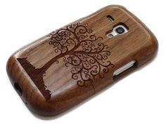 Samsung Galaxy S3 Mini - wooden S3 mini case walnut / cherry or bamboo -  Tree