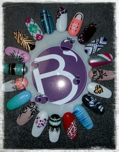 Mixed Design Nail Art Wheel @Bubz_NailBar