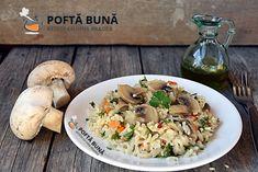 Pilaf de post cu ciuperci, reteta simpla, ieftina si rapida Romanian Food, Risotto, Potato Salad, Rice, Potatoes, Meat, Chicken, Ethnic Recipes, Youtube