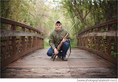 #senior #boy #high #school #portraits #pictures #photos #hunting #hunter  #rifle #posing #photography