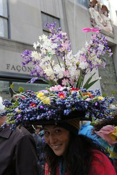 Creative millinery at New York's Easter Parade and Bonnet Festival. [Photo by Kyle Ericksen]