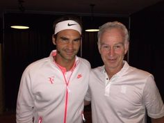 Great photo of Federer and McEnroe!