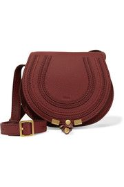 The Marcie mini textured-leather shoulder bag