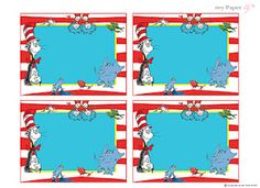 My Paper lily: {Free Printables} Dr. Seuss is the man! buffet labels!!!!