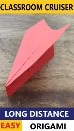 Paper Aircraft, Project Ideas, Projects, Paper Plane, Origami Easy, Long Distance, Airplanes, Make It Simple, Paper Crafts