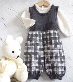 This cute little ensemble was an inspiration after Prince George was born. I love all tartan patterns, and could just see a little royal baby in this outfit!!MATERIALS REQUIRED - 5ply Yarn; Debby Bliss Baby Cashmerino, (125 metres per 50gram ball), or Patons Classic Bluebell 5ply (135 m per 50 gram ball) or any yarn that will give you the same gauge as listed below.Overalls Main Colour, 2, 2, 3, 3 -- 50 gram balls. Contrast colour 1, 1, 2, 2 -- 50 gram ball/s. Jumper 3, 3, 4, 5 -- 50 gram…