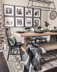 Dining Room Wall Decor, Dining Room Design, Dining Rooms, Farmhouse Living Room Decor, Diningroom Decor, Kitchen Design, Living Room Decor Cozy, Kitchen Decor, Dining Room Inspiration