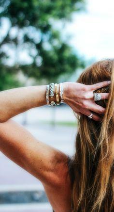 Stacked Bracelets, F