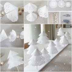 DIY Doily Paper Christmas Tree Tutorial   UsefulDIY.com Follow us on Facebook ==> https://www.facebook.com/UsefulDiy