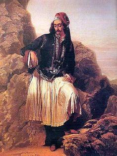 Louis Dupre- The Greek (Andreas Londos) Greek Independence, Greek Warrior, Exotic Art, Greek History, Greek Art, Historical Clothing, Greece, Military Uniforms, Albania