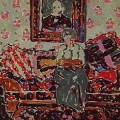 The Bright Pillows - David Brown Milne 1914 Canadian, oil on canvas, 50 x 50 cm Canadian Painters, Canadian Artists, David Milne, Bright Pillows, Inuit Art, Old Paintings, Famous Artists, Figure Painting, Figurative Art