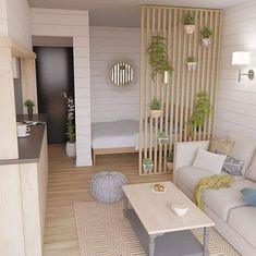 Bedroom decor 10 classic design ideas for small studio apartments 8 Living Room Designs, Living Room Decor, Bedroom Decor, Bedroom Ideas, Living Rooms, Wall Decor, Condo Interior, Home Interior Design, Studio Interior