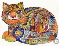 """Bilibinsky petit chat"" par Oxana Zaika"