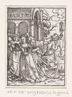 1524 - 1526 Hans Holbein (II), Hans Lützelburger, Queen and Death as Jester (Koningin en de Dood als nar)