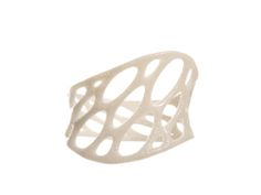 1-layer twist ring in White Strong & Flexible Polished