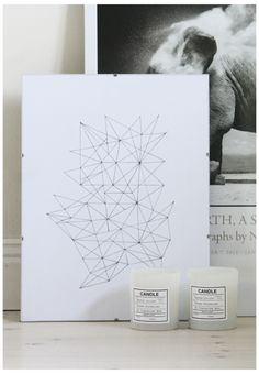 Illustration - geometric, candles + photography