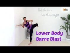 This is traditional ballet barre lower body workout that uses combination exercises to really fatigue the muscles. For each set you will 2 reps of 3 differen. Ab Core Workout, Cardio Kickboxing, Pilates Workout, Hiit, Ballet Barre Workout, Pilates Barre, Ballet Workouts, All Over Body Workout, Youtube Workout