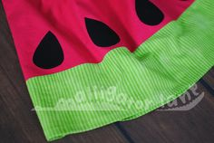 Watermelon Dress Adorable Pillow Case Dress Hot Pink and Green  Summer Photoshoot dresses Watermelon Birthday Party on Etsy, $27.00