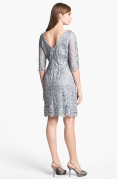 grey lace form fitting sheath - Google Search