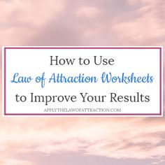 Free Law of Attraction PDF Worksheets - Download & Print