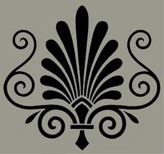 Victorian ornament stencil