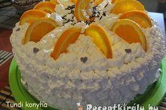 Narancsos Oroszkrém torta III | Receptkirály.hu Hungarian Desserts, Izu, Bakery, Cooking Recipes, Birthday Cake, Cupcakes, Candy, Cookies, Food