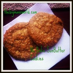 No Bake SunButter cookies- whole ingredients, quick prep and delicious to boot!