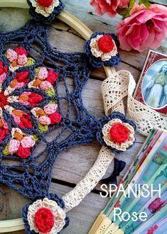 Crochet Afghan Stitch, Crochet Yarn, Knitting Yarn, Crochet Hooks, Crochet Granny, Crochet Stitches, Crochet Mandala Pattern, Crochet Flower Patterns, Crochet Dreamcatcher Pattern