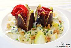 Ensalada de endibias, higos, cecina y queso azul