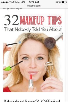 The best makeup tips and tricks! Want to go home and play with make up now :) Make-up-tipps Und Tricks, Make Up Tricks, All Things Beauty, Beauty Make Up, Hair Beauty, Beauty Skin, Beauty Care, Teen Beauty, Beauty Stuff