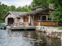 Lakefront rustic cabin