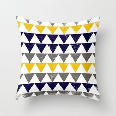 This could easily be made into a quilt design.  Nautical Mile Pillow Cover | dotandbo.com