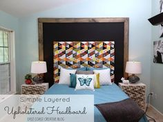 DIY East Coast Creative: Layered Upholstered Headboard DIY home furniture Diy Home Crafts, Diy Home Decor, Diy Home Furniture, Furniture Ideas, Furniture Design, Bed Frame Design, Small Apartment Design, Diy Bed, Cool Rooms