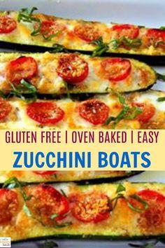 Oven baked zucchini boats. Gluten free, vegetarian, paleo, keto friendly appetizer. Serve it instead of bread sticks. No carbs recipe. #zucchini #paleo #keto #vegetarian
