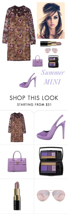 """""""Summer Mini"""" by kotnourka ❤ liked on Polyvore featuring Mikael Aghal, Salvatore Ferragamo, Retrò, Lancôme, Bobbi Brown Cosmetics and Oliver Peoples"""