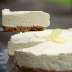 This is our limoncello twist on a classic cheesecake…a NO BAKE recipe. No Bake Desserts, Easy Desserts, Delicious Desserts, Dessert Recipes, Classic Cheesecake, Simply Recipes, Limoncello, Recipes From Heaven, Cheesecake Recipes