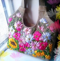 Sewing | Embroidery | Silk Ribbon | Bag